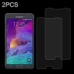 2Pk 0.26mm 9H Surface Hardness Explosion-proof Tempered Glass Screen Protector Film for Samsung Galaxy Note 4